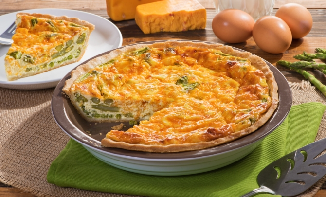 Bacon & Onion Spring Quiche