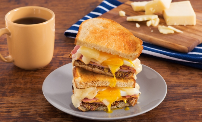 Ultimate Grilled Cheese Breakfast Sandwich