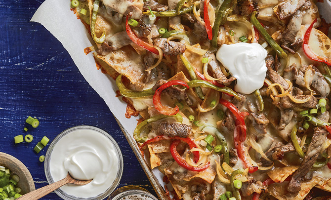 Philly Cheesesteak Sheet-Pan Nachos